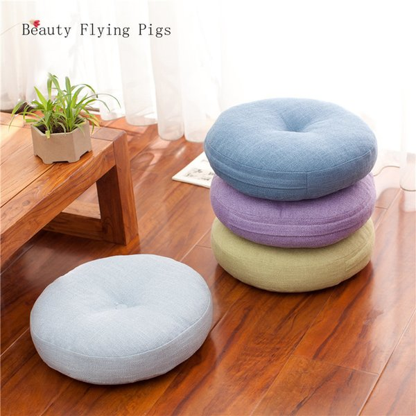 Pleasant Bay Window Cushions Futon Tatami Balcony Round Wooden Floor Removable And Washable Soft Skin Fabric Thick Japanese Linen Cushion Car Seat Cushion For Machost Co Dining Chair Design Ideas Machostcouk