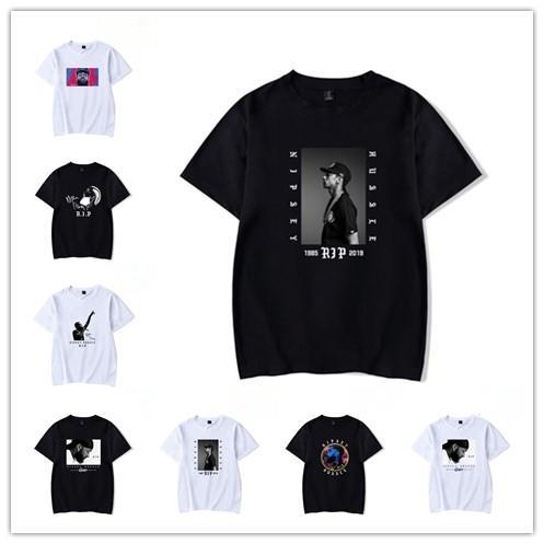 bestseller6878 / Nipsey Hussle Crenshaw 1985 2019 Camiseta Algodón Negro Hombres XS-4XL Nipsey Hussle Camiseta Verano 2019 Hombre Camisetas Rapper Nipsey Rest