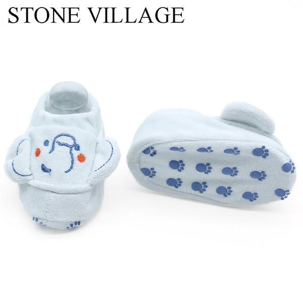 Nouveau-né Bébé Chaussures Mignon Doux Chaussettes Coton Pantoufles Garçons Filles Infant Chaussures Chaussures 0-3 3-6 6-9 Mois Premier Marcheurs Berceau