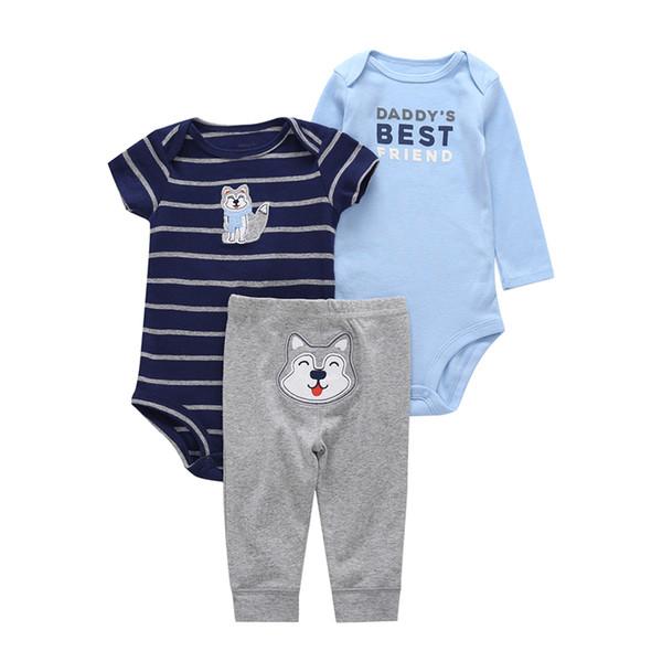 Neugeborenes baby geschenke marke kleidung baumwolle säugling bebes baby kleidung set tier fuchs strampler + hose 3 STÜCKE JUNGE MÄDCHEN
