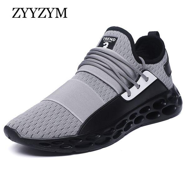ZYYZYM Erkekler Rahat Ayakkabılar Nefes Erkekler Ayakkabı Işık Açık Sneakers Adam Tenis Masculino Zapatos Hombre Sapatos