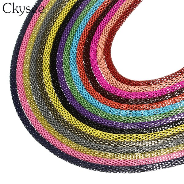Ckysee Wholesale High Quality 6m/lot Diameter 3mm Metal Chains Bulk Open Link Chain For Diy Necklace Jewelry Making