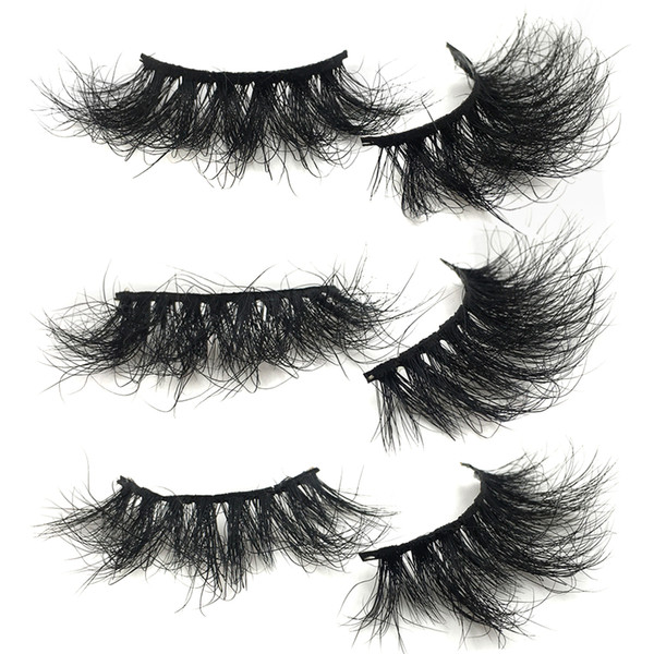 RED SIREN Mink Lashes 25mm Fluffy Messy Reusable 3D Eyelashes Wholesale Bulk Real Mink Eyelashes Makeup False Eye Lashes