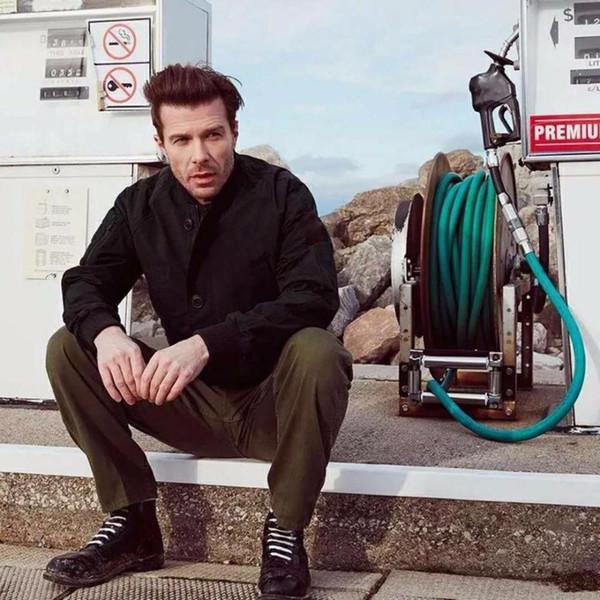 Lüks Avrupa 18ss Standı Yaka Ceket Moda Vahşi Yakışıklı Standı Yaka Ceket Rüzgarlık Ceket Erkek Ve Kadın Yüksek Kalite Hfbyjk085