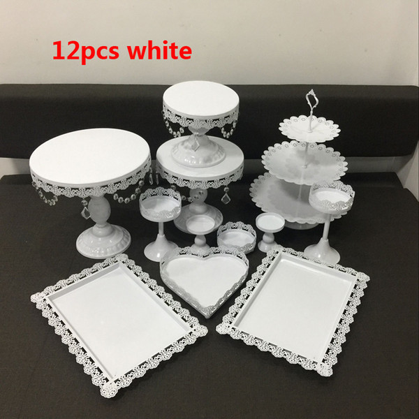 12pcs crystal cake decorating stand cupcake holder wedding cake centerpieces decor candy Dessert decor cupcake tray baby shower cake rack