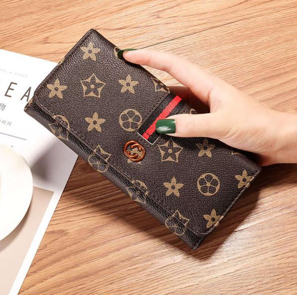filles bourse de mode imprimé à long sac de support de carte supérieure de qualité de portefeuille de dame pliant avec de bons cadeaux de fermeture à glissière pour les femmes