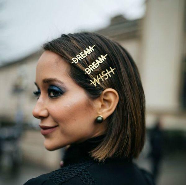 Bling Lettre Épingles À Cheveux pour Femmes Ins Même Paragraphe Filles Pinces À Cheveux Pins Barrette Outils Accessoires De Cheveux Strass Alliage Personnalité Mot
