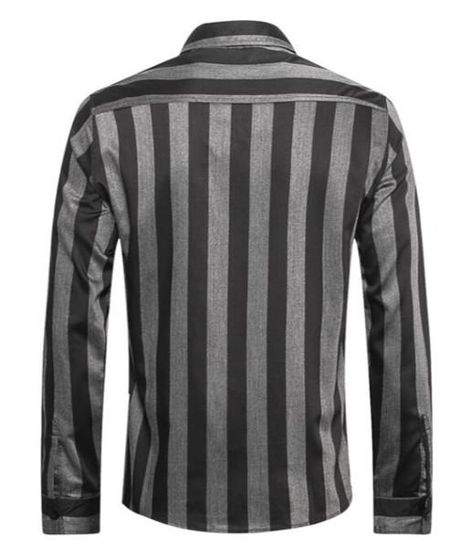 Ca * camicia stello manica lunga 2019 primavera nuova moda strisce verticali camicia casual in cotone Inghilterra