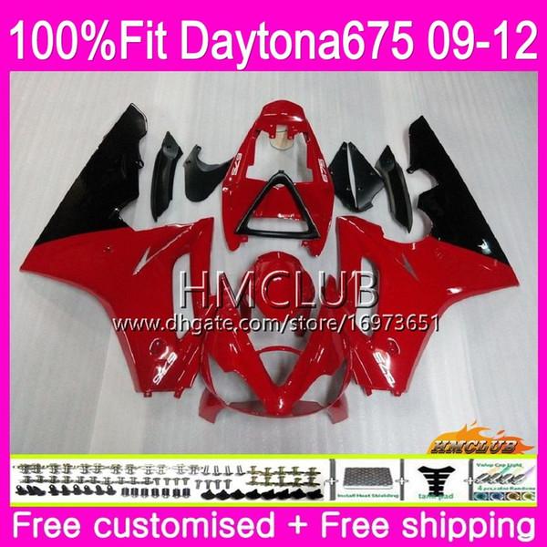 Injection For Triumph Daytona 675 09 10 11 12 Bodywork 44HM.11 Daytona-675 Daytona675 Daytona 675 2009 2010 2011 2012 Fairing Sale Red Black