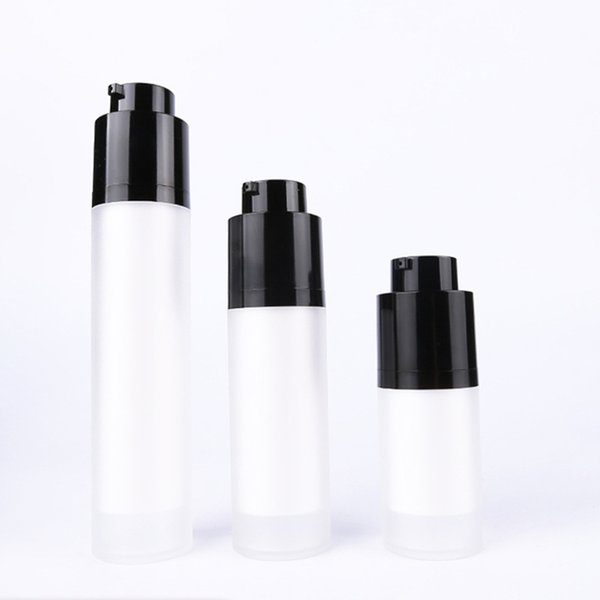 15ml 30ml 50ml Airless Pump Emulsion Cosmetic Bottles Lotion Cream Containers Empty Vacuum Pump Bottle F2600