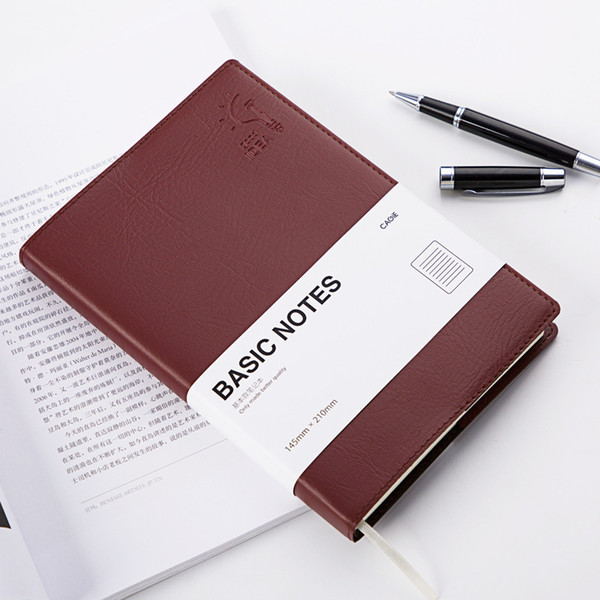 Mini Faux Leather A5 Notebook Creative Personal Diary Memos Agenda Planner Organizer Composition Travel Journal Office Book Gift