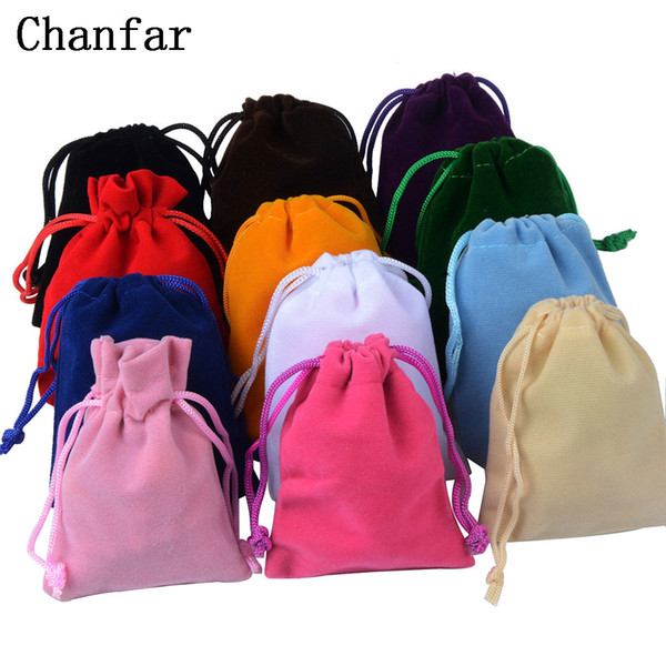 & Accessories Jewelry Packaging & Display 25pcs Lot 7x9cm Jewelry Packing Velvet bag,Velvet Drawstring bags & Pouches