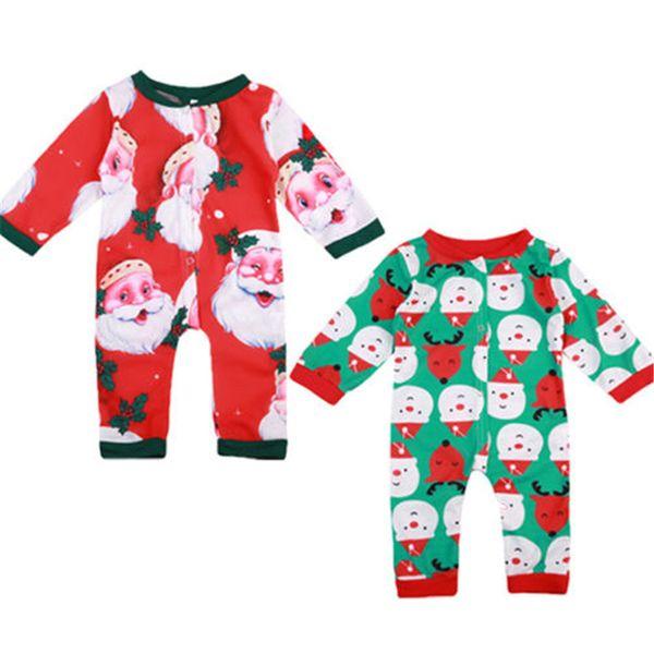 Bébé unisexe Père Noël Romper bébé fille Noël automne Jumpsuit du nouveau-né à manches longues Romper 2017 Costume New Body Pour S200107 Nouveau-nés