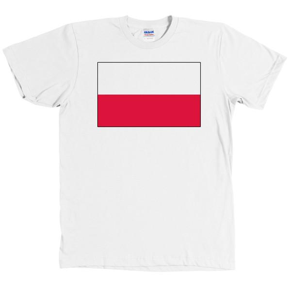 Польский флаг футболка Польша печать Tee новый с тегами смешные бесплатная доставка унисекс случайные