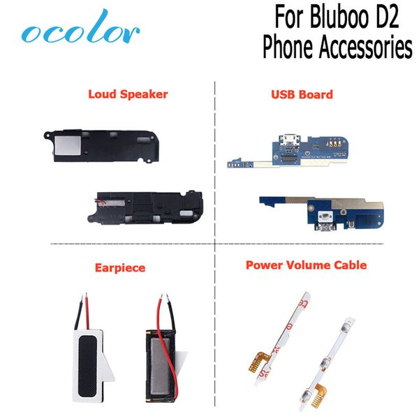 ocolor For Bluboo D2 Earpiece Power Button Volume Flex Cable Loud Speaker USB Plug Charge Board For Bluboo D2 Mobile Phone