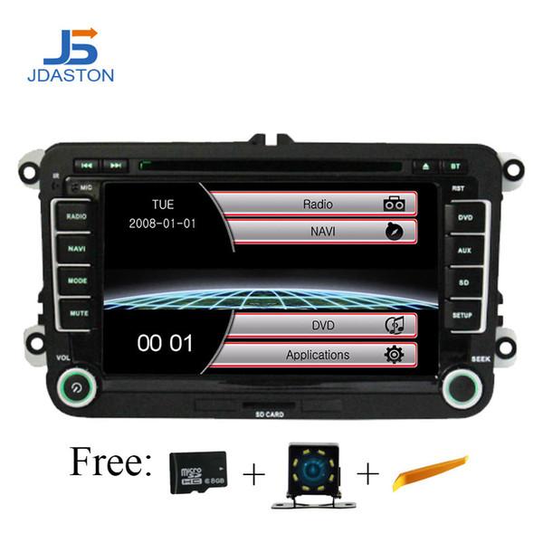 Jaston 2 Din Car Radio For Skoda Seat Volkswagen VW Passat B6 Polo Golf Touran Sharan Jetta Caddy T5 Tiguan Audio GPS Nav