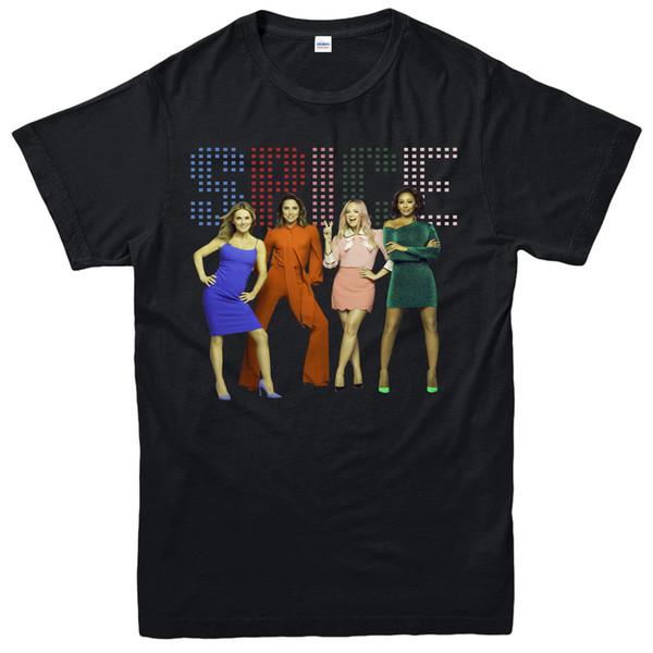 Camiseta Spice Girls Pop Mel B All Spice Girls Fan Regalo Adultos Niños Tee Top al por mayor barato tees100% Algodón para hombre