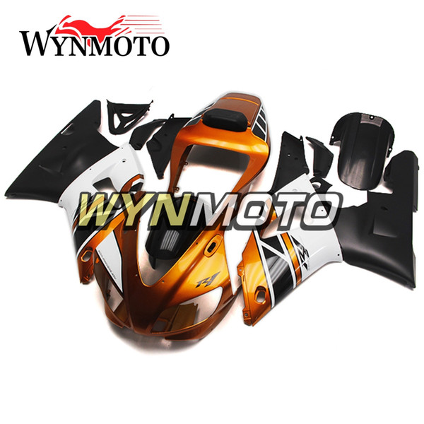 Carenados de motocicleta naranja negro para Yamaha YZF 1000 R1 1998 1999 ABS plástico inyección kits de muelles cubiertas de carenados