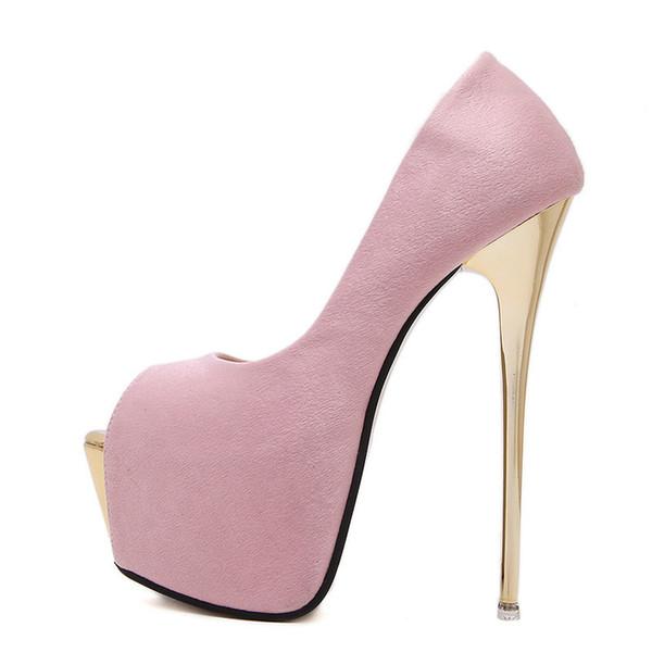 Women Pumps High Heels Womens Sexy Peep Toe Pumps Platform Shoes White Black Pink Wedding Party Shoes Size 34-45