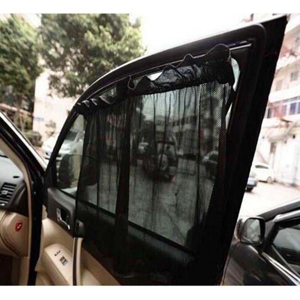 2Pcs universal car side rear window sun visor shade mesh cover 2pcs shield sunshade uv protector adjsutable sun casual auto cover2Pcs Univer