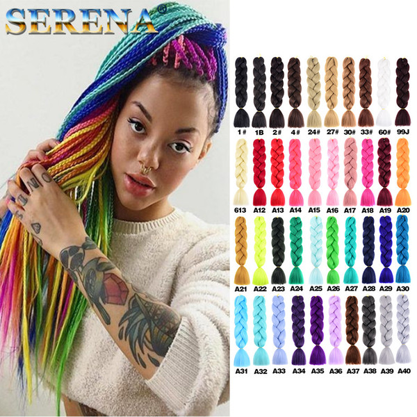 Kanekalon Jumbo braiding hair 24inch Folded 100grams Solid Dark Green Color Synthetic Braids Hair Extension Dreadlocks Free shipping