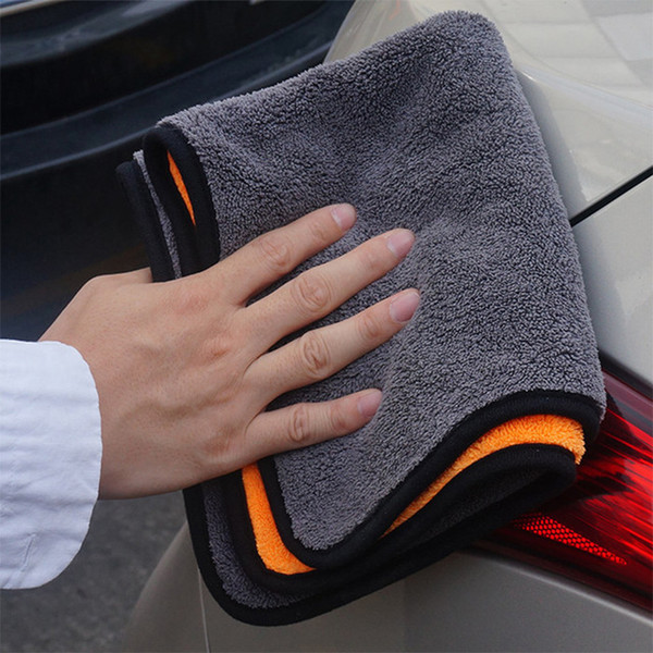 best selling 2x 30*30CM Super Absorbent Car Wash Cloth Microfiber Towel Cleaning Drying Cloths Rag Detailing Car Towel Car Care Polishing