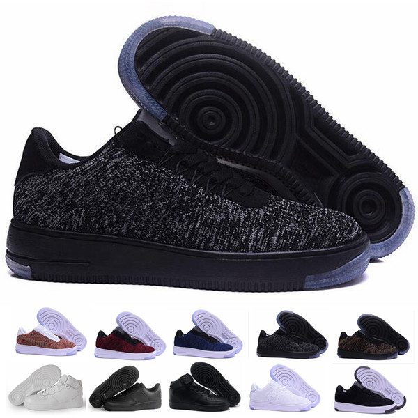 2019 Newest Classical All White Black Gray Low High 1 Cut Men & Women Sports Sneakers Running Shoes one Skate Shoes EUR Size 36-45