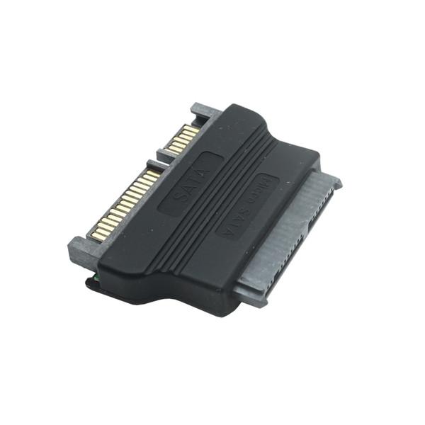 "top popular Micro SATA to SATA Adapter 22 Pin to 16 Pin 1.8"" Hard Disk SSD Connector Converter Female to Male ATA Adapters Dropship 2021"