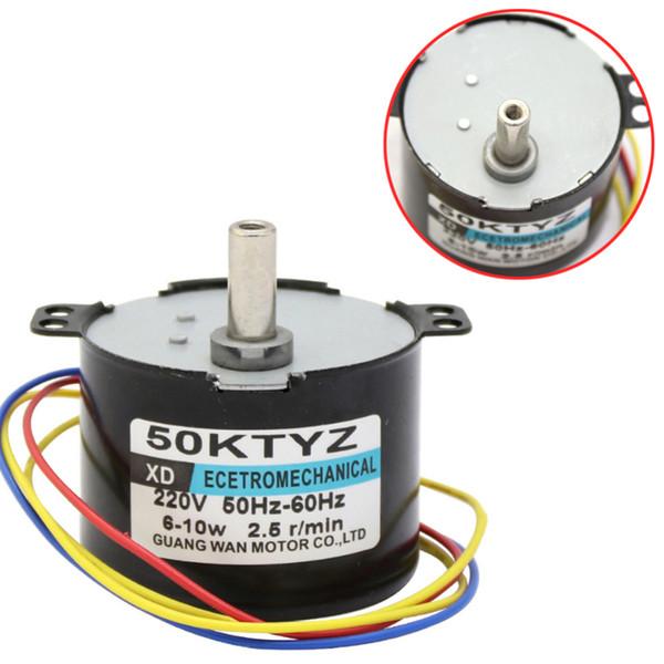 50KTYZ 2.5rpm Motore sincrono a magneti permanenti AC 220V riduttore di velocità motori controllabili inversione positiva e negativa 10W