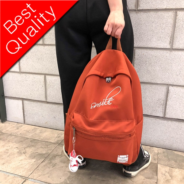 Exquisite embroidery Women Backpack Female Waterproof Nylon Backpacks Shoes hanging schoolbag for Teenage girls Mochila