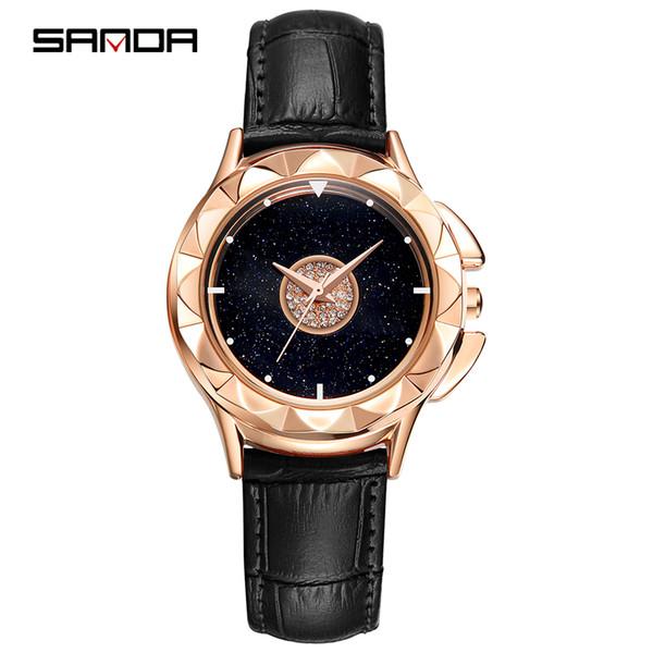 SANDA 2019 new belt watch for women a lucky break watch web celebrity shake tone with the same trend simple student quartz