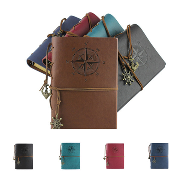 hot garden travel diary books kraft papers journal notebook Pirate notepads cheap school student classical books OfficeSuppliesT2I5429