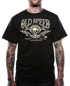 LuArrivey 13 T Shirt Der Octane-Schädel der Männer mit Flügeln Hot Rod Motorcycle Drag Race