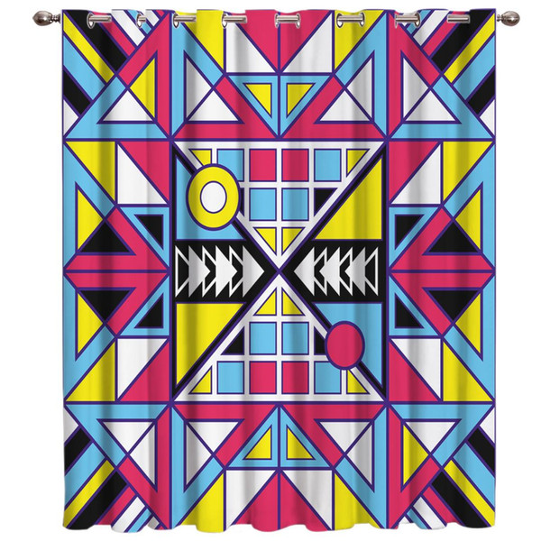 Abstract Geometric Pattern Doodling Room Curtains Large Window Blackout Kitchen Outdoor Bedroom Fabric Drapes Indoor Decor