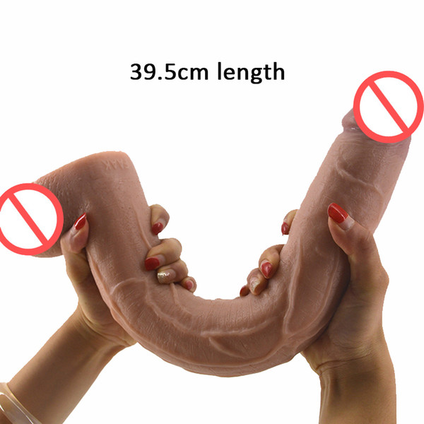 15.5 Inch Super Long Dildo Horse Huge Penis Realistic Sex Toys For Women Vagina Stimulate Anal Stuffed Big Dick