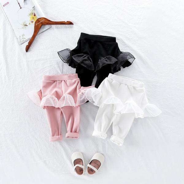 Girl Legging Skirt-pants Mesh Cake Skirts Baby Girl Spring Autumn Leggings Children's Girls Trousers Boots for 1-5 Years Kids