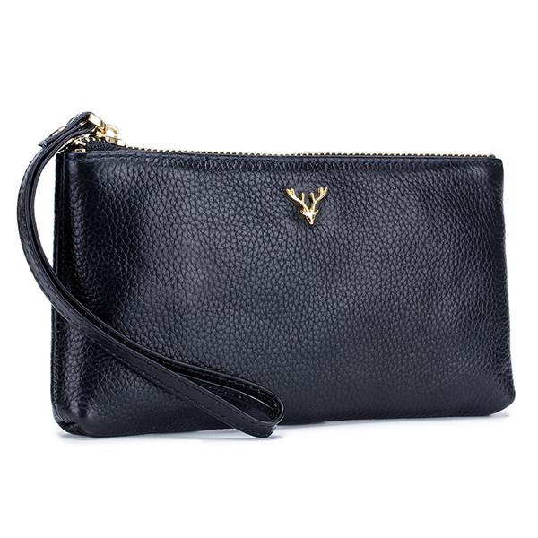 Echtes Leder Frauen Clutch Wallet 2019 Business Handtasche Kleine Handtaschen Umhängetaschen Umhängetasche Dame Clutch Taschen Party