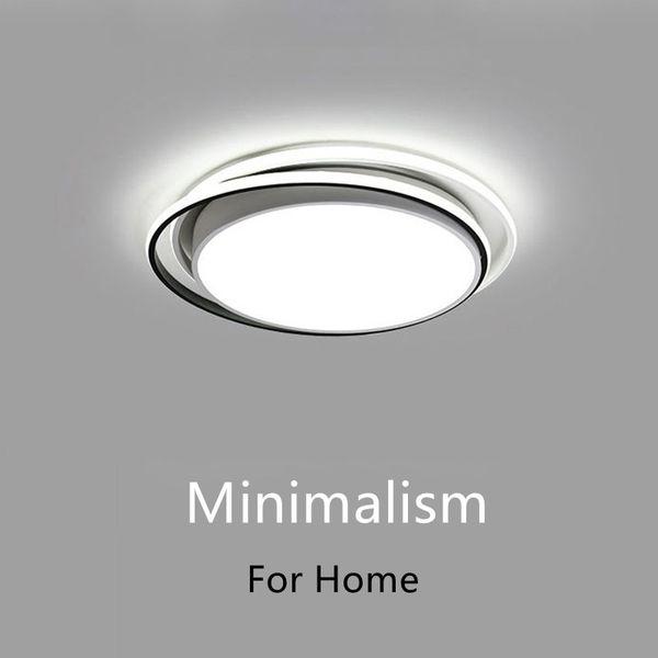 Minimalistische schwarz weiße Kronleuchter für Wohnzimmer Schlafzimmer Innenbeleuchtung Lüster moderne LED Kronleuchter Deckenleuchte Leuchten - I83