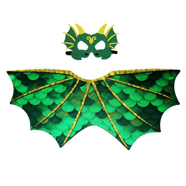 3-7 Años de Edad ESPECIAL Alas de Dragón Máscara Traje de Niños Regalos de Cumpleaños Espectáculo de Danza Nieta Carnaval de Navidad Disfraces de Fiesta