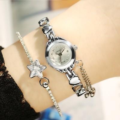 KIMIO Simple Small Dial Love Decoration Bracelet Ladies Famous Brand Women Luxury Watches Womens Quartz-watch Female WristwatchY1883102