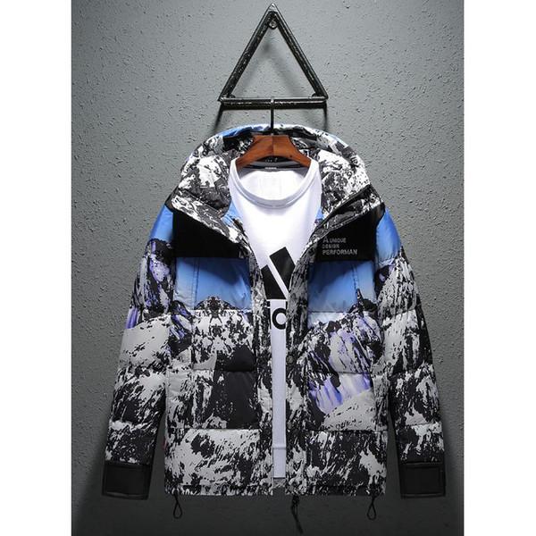 Erkekler Tasarımcı Gelgit Marka Ceket 2019 Moda Kar Nountain Aşağı Ceket Erkek Açık Gevşek Kapüşonlu Ceket Lüks Rahat Parkas
