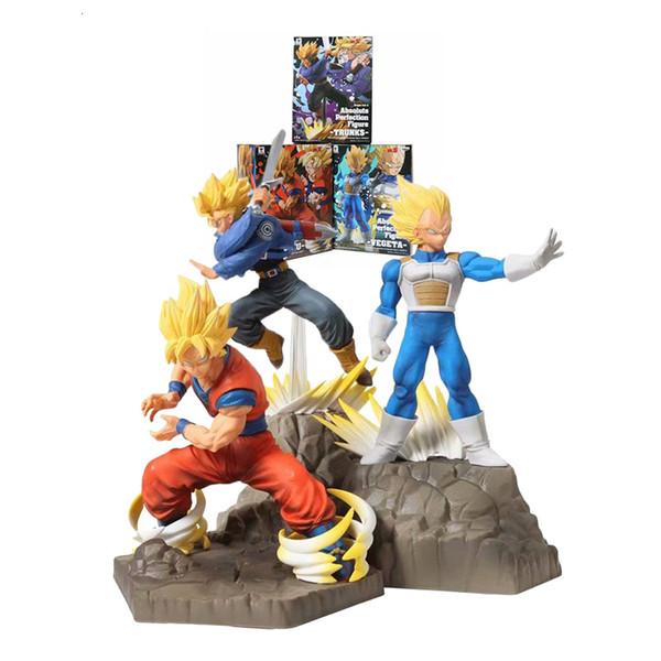 Yeni Dragon Ball Süper Saiyan oğlu Goku vegeta Sandıklar APF PVC Action Figure Oyuncak DBZ Koleksiyon Model oyuncaklar T190912