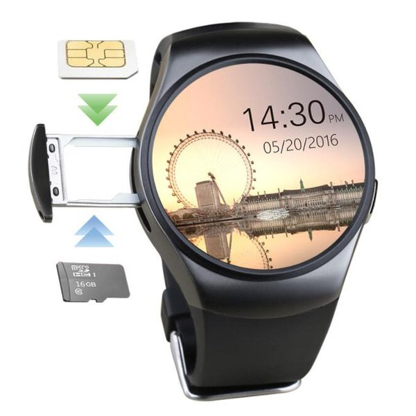 KW18 умные часы подключите SIM-карту вызова круглый циферблат Bluetooth носить мониторинг артериального давления сердечного ритма спортивный подарок браслет