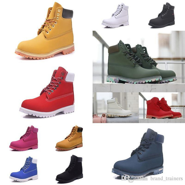 2020 NewTimberlandBoots Luxury Shoes Mens Womens Designer Military Chestnut Triple Camo Hiking Winter Snow Martin High Quality Cheap Shoes Online