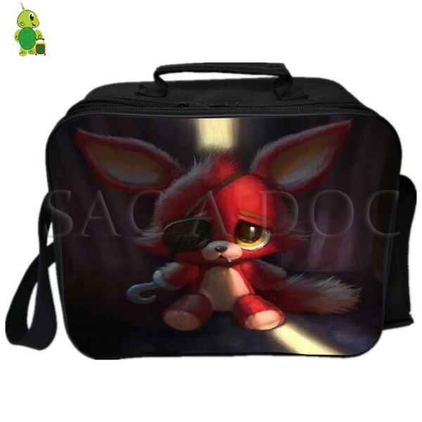 Five Nights At Freddy's Foxy Lunch Bag Fresh Keeping Ice Cooler Bag Thermal Insulation Women Men Picnic Camping Shoulder