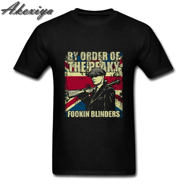 By Order of The Peaky fookin Blinders t shirt men Hip hop funny print Tops T-Shirt New Sale Pure Cotton streetwear