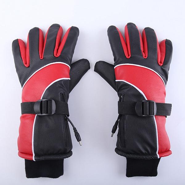 Batería de litio de carga al por mayor de los guantes de calefacción calefacción eléctrica Guantes de invierno al aire libre Deportes impermeables del enchufe de EE.UU.