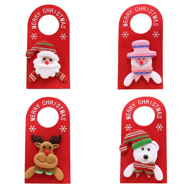 1Pcs Red Santa Claus Christmas Cartoon Door hanger 22.5*11cm New Year Xmas Hanging Ornaments Decor Home Party Decoration 62663