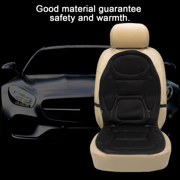 2Pcs Universal 12V Electric Heated Car Front Seat Cover Padded Thermal Cushion Automobiles Interior Heater In Winter