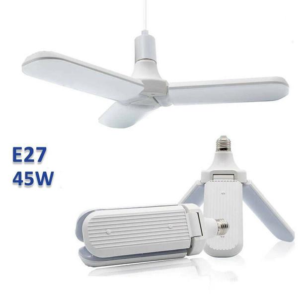 45W E27 Super Bright soffitto del LED Pendant Ventaglio pieghevole della luce della lampada della lama per il magazzino, casa, scuola